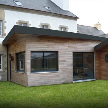 Extension de maison dans le Cantal